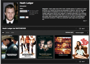 Heath Ledger Filme bei Watchever
