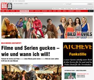 Watchever ist down, Funkstille auch bei BILD.de