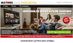 Film-Streaming-Flatrate von Watchever.BILD.de im Test