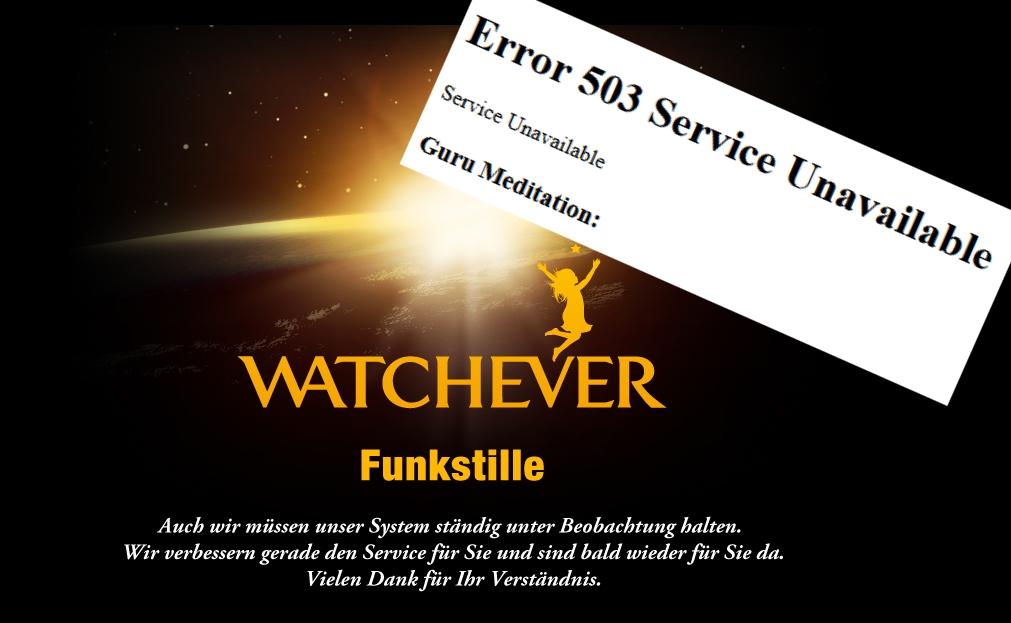 503 Server-Fehler führen zu Funkstille bei Watchever